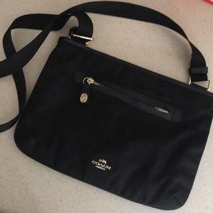 Coach (genuine) cross body, nylon purse